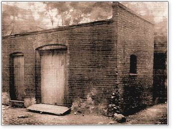 The woodshed at 58 Bagley in which Henry Ford assembled the