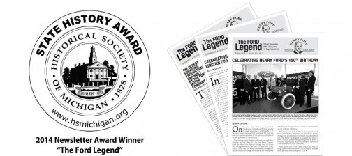 State History Award for communications Henry Ford Heritage Association's The Ford Legend newsletter